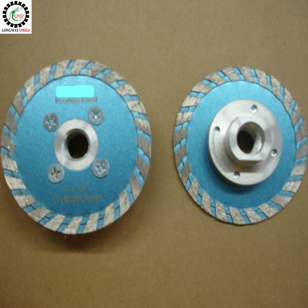 6pcs lot 80mm turbo blade with M14 flange 3 carving blade For granite marble or Terrazzo