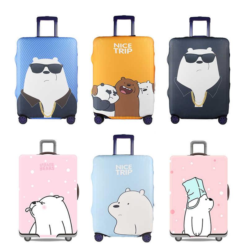 Чехол для чемодана с милым медведем, аксессуары для путешествий, чехол для багажа, Пылезащитный колпак, защитная крышка для тележки, эластична коробка, наборы