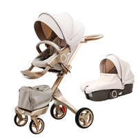 Luxury Baby Stroller High Landscape Portable Baby Carriages Folding Prams For Newborns Travel System 2 In