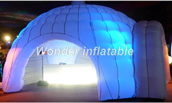 2018 vendita calda 8 m Ha Condotto La tenda a cupola gonfiabile tenda di nozze tenda igloo gonfiabile con 4 ingressi