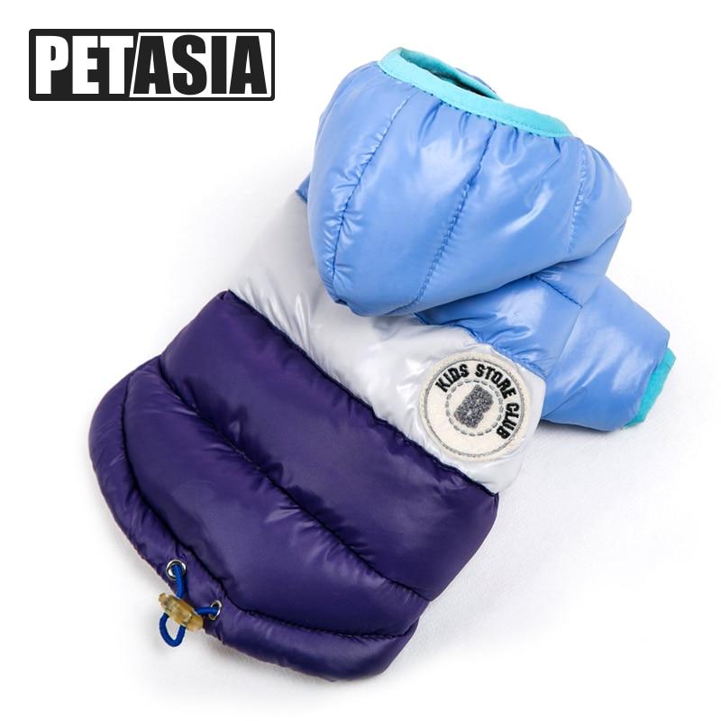 Beste Verkauf Winter Haustier Hund Kleidung Warme Unten Jacke Wasserdichte Mantel S-XXL Hoodies für Chihuahua Kleine Mittelgroße Hunde Welpen PETASIA