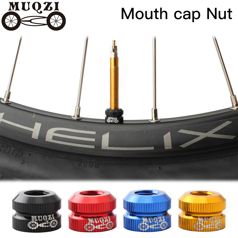 MUQZI Dead fly bicycle Law mouth Nut Vacuum <font><b>tire</b></font> Gas nozzle Nut Inner tube Valve Mountain <font><b>Bike</b></font> road <font><b>bike</b></font> image