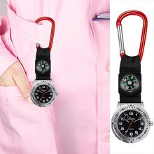 Hot Sale Klip Perawat Dokter Liontin Pocket Kuarsa Red Cross Bros Perawat Compass Watch Fob Hanging Medical Reloj De Saku @ 50(China)