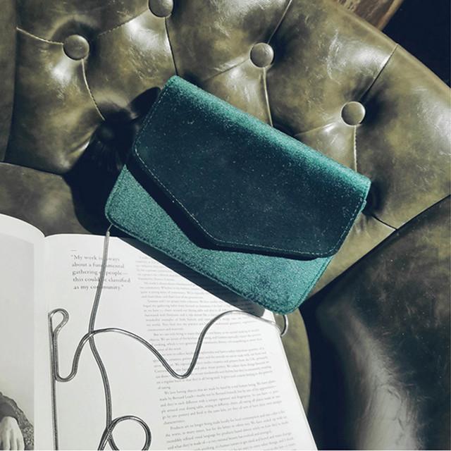 Chain Velvet Silk Bottom Handbag
