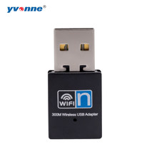 USB 2.0 WiFi Wireless Network Card 300mbps 802.11 b/g/n LAN Adapter with rotatable Antenna 2.4G(China)