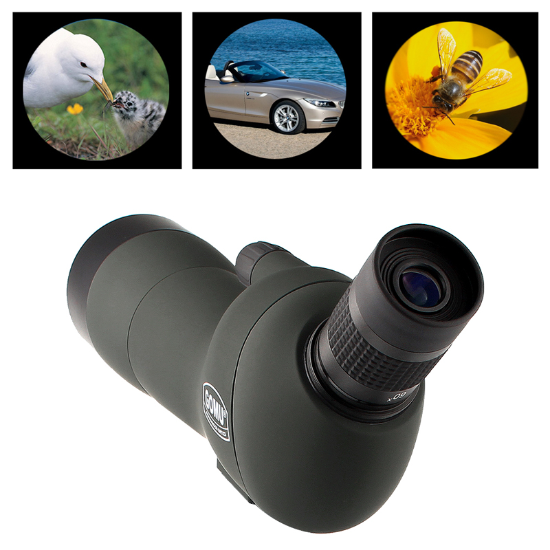 20-60x60 HD Spotting Scope Zoom Telescope with 45-Degree Angled Eyepiece Low Light Night Vision 38-0008 цена
