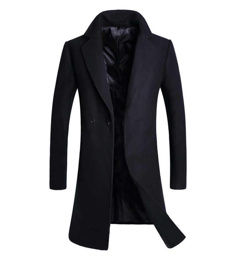 2018 גברים של אופנה בוטיק מוצק צבע עסקים מקרית ארוך צמר מעיל גברים של גבוהה-סוף רנדל מעיל מזדמן גברים של מעילי XD564