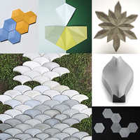 Geometric design concrete wall tile silicone mold cement TV background wall paste mold plaster decorative wall tile mold