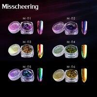 1Box 0.2g Chameleon Colorful Powder Nail Glitter Polish Mirror Powder Vtirka New DIY Nail Art Beauty Nail Art Pigment