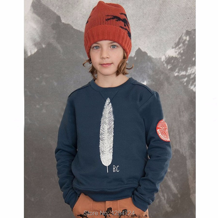 2016 AUTUMN WINTER BOBO CHOSES font b HOODIES b font THICK font b KIDS b font