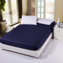 100% Cotton solid color bed sheets fitted sheet elastic mattress cover bed linen bedspread twin full queen king customized size