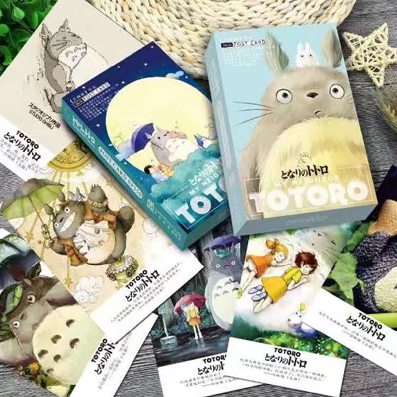 36 pcs/pack Miyazaki Totoro Greeting Card Postcard Birthday Letter Envelope Gift Card Set Message Card brooklyn bridge landmark building 3d pop up greeting card laser cutting dies envelope hollow carved handmade kirigami gifts