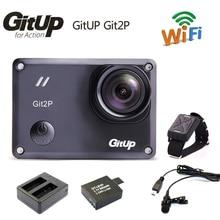 Gitup git2p novatek 96660 1080 p wifi 2 karat outdoor sport action kamera + mic + fernbedienung + extra 1 stücke batterie + dul ladegerät