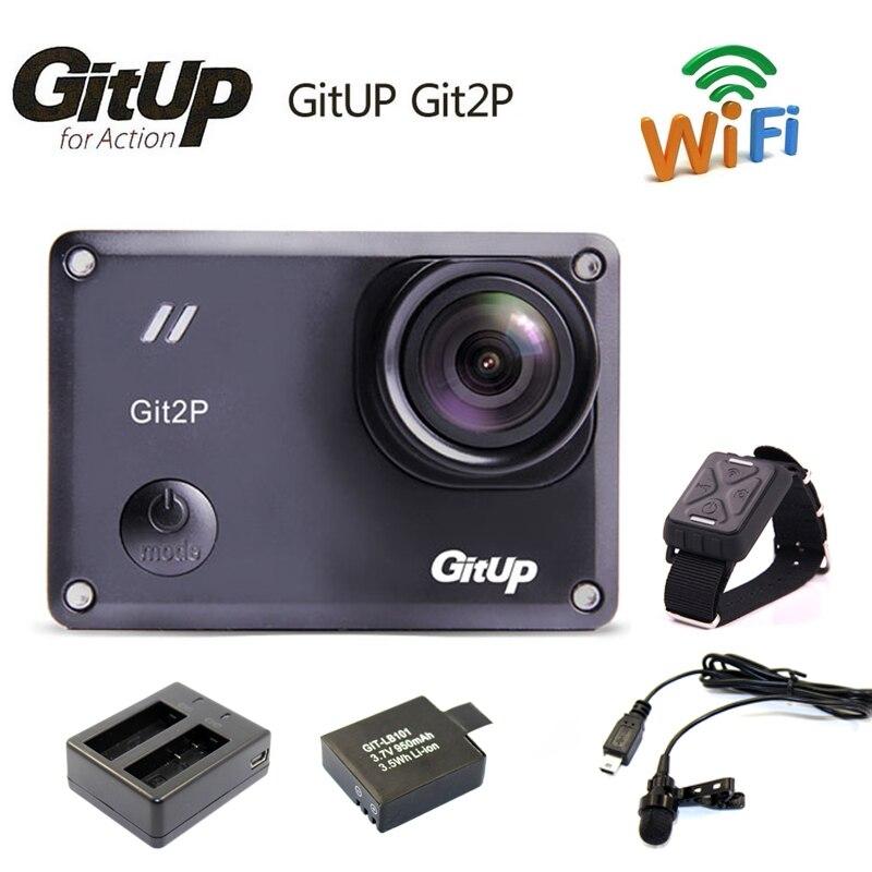 Gitup git2p Новатэк 96660 1080 P Wi Fi 2 К Спорт на открытом воздухе действие Камера + микрофон + Дистанционное управление + дополнительная 1 шт. Батарея + Б