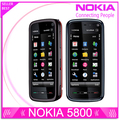 Восстановленное разблокировать телефон Nokia 5800 xpressmusic 3.15MP камерой GPS Wifi FM радио Bluetooth один год гарантии бесплатная доставка