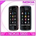 Reformado desbloqueado teléfono Nokia 5800 xpressmusic 3.15MP cámara GPS Wifi FM radio Bluetooth un año de garantía envío gratis