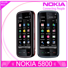 Refurbished Unlocked Phone Nokia 5800 xpressmusic 3.15MP Camera GPS Wifi FM radio Bluetooth One year warranty Free shipping
