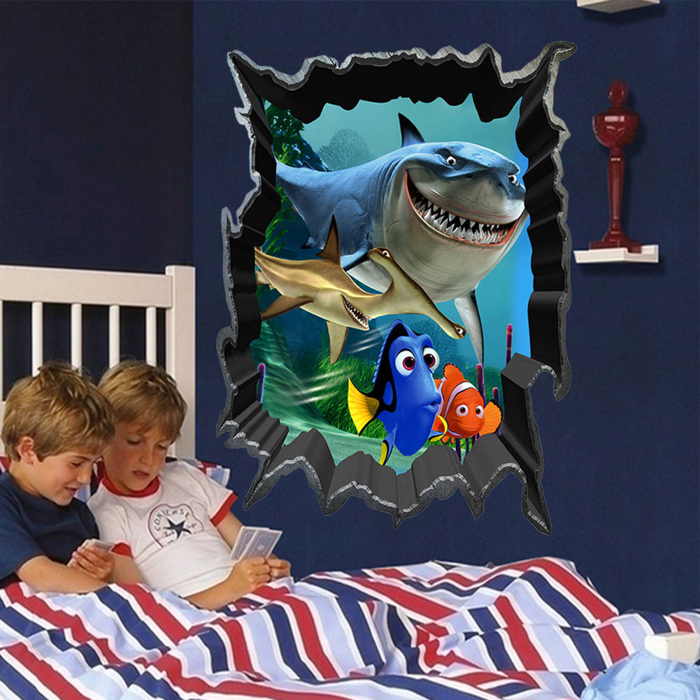Finding Nemo Bruce Dory Fish 3D View Art Wall Stickers Decals Kids Room  Decor In Wall Stickers From Home U0026 Garden On Aliexpress.com | Alibaba Group Part 53