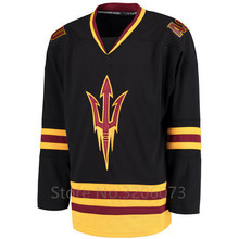 Arizona State Sun Devils College White Black Ice Hockey Jersey Embroidery Stitched  Customize any number and · 2 Colors Available 92de1454f