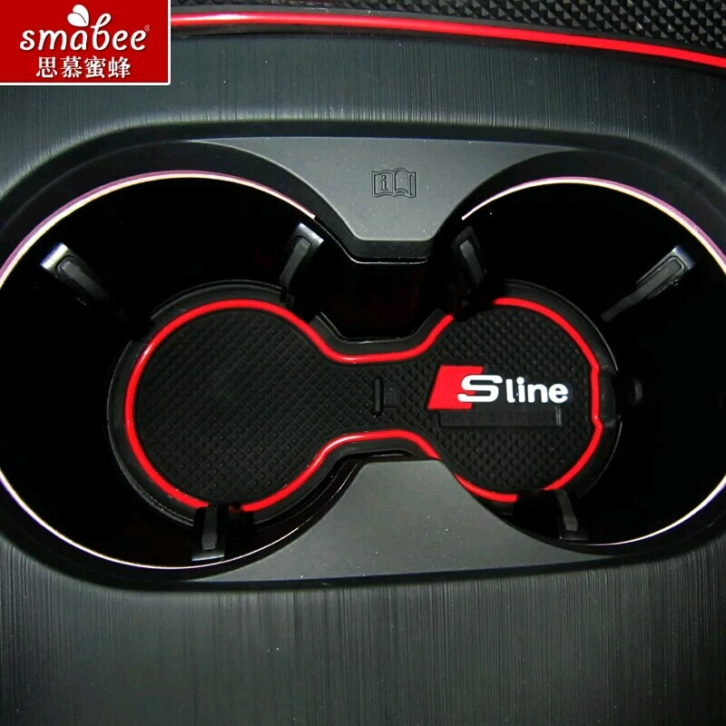 9pcs/set For Audi A3 2014 2015 Accessories 3D Rubber Car Mat Car Anti Slip Mat, Non-slip Mats I