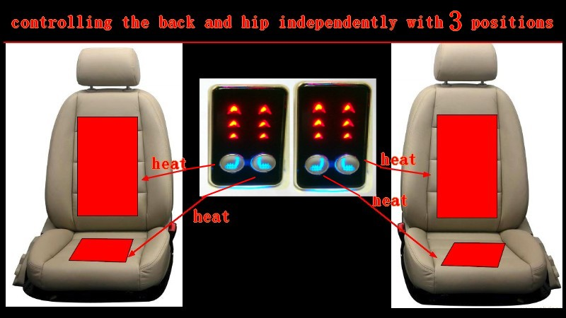 independently control the back and hip with 3 positions nickel plated frame switch carbon fiber car