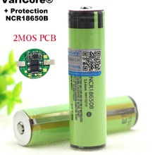 Защищенный 18650 NCR18650B 3400mah перезаряжаемый аккумулятор 3,7 V с печатной платой для фонариков