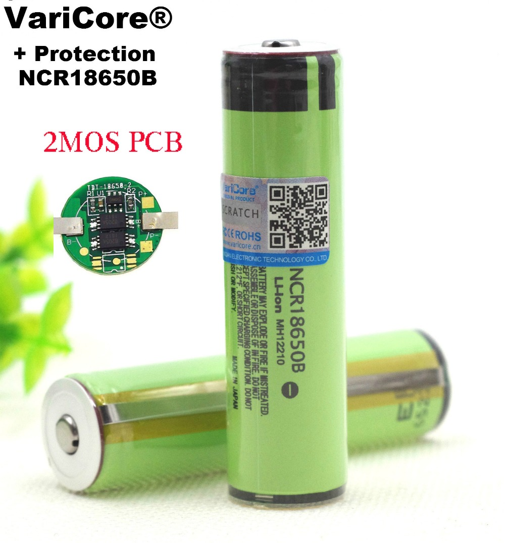 New Protected 18650 NCR18650B 3400mah Rechargeable Battery  3.7V With PCB For Flashlight Batteries