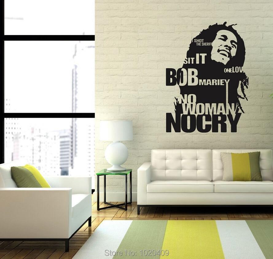 Wall Sticker Home Furnishing Decorative Bob Marley Jamaica Reggae