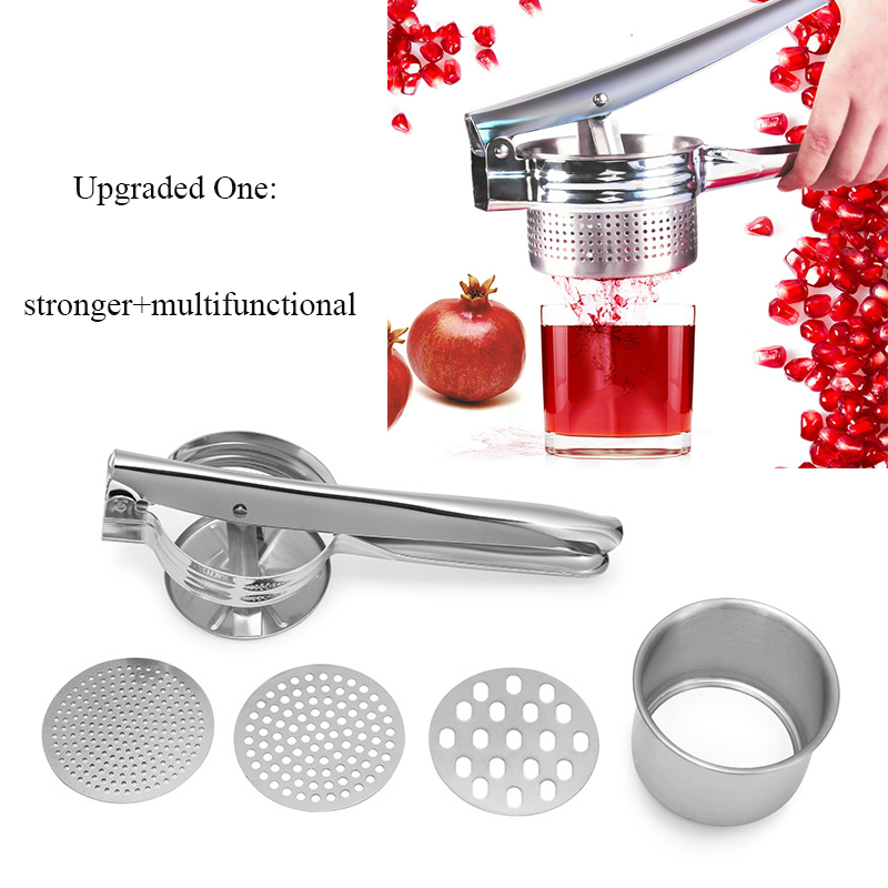3 In 1 Portable Stainless Steel Multi Manual Juicer Potato Pressure Device Squeezer Noodle Maker Long Lifetime Kitchen Aid