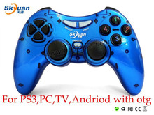 New Arrival For PC TV Andriod PS3 Wirelss Bluetooth Game Controller GamePad Double Shock Joystick