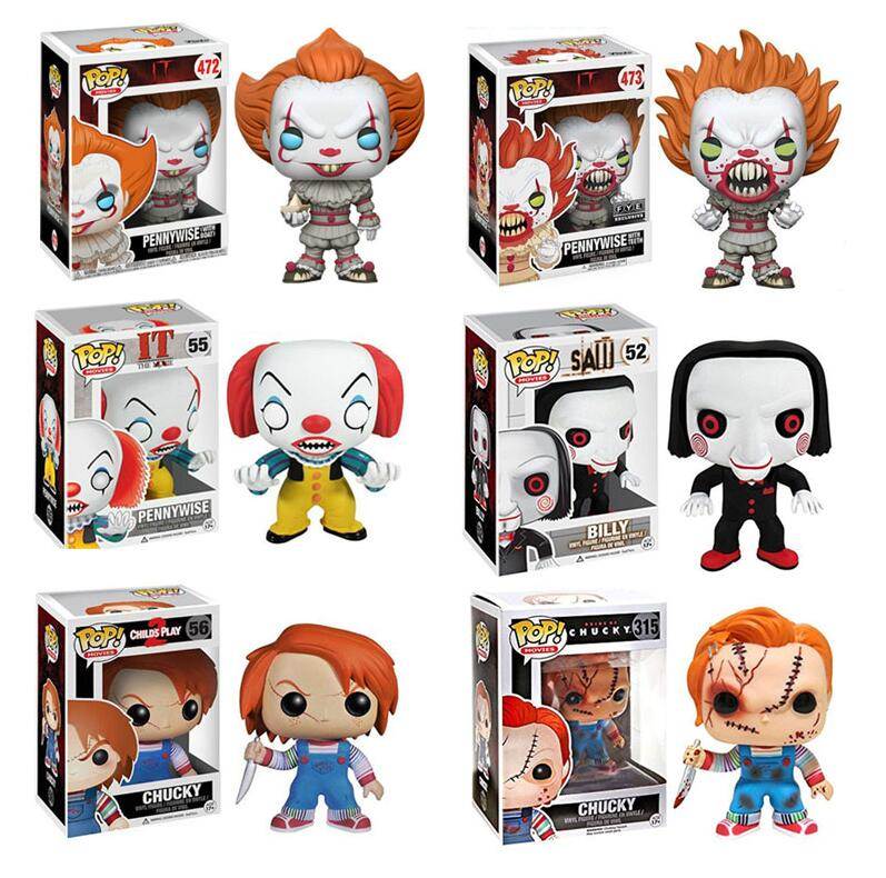 Funko Pop Movies Stephen King It Joker Clown Collectible Model Kids Boy Toys For Chlidren 2019 Vinyl Dolls Figure Toys
