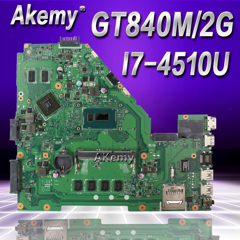 Akemy GT840M I7-4510U 4GB X550LD motherboard For ASUS X550LD A550L Y581L W518L X550LN laptop motherboard original motherboardAkemy GT840M I7-4510U 4GB X550LD motherboard For ASUS X550LD A550L Y581L W518L X550LN laptop motherboard original motherboard