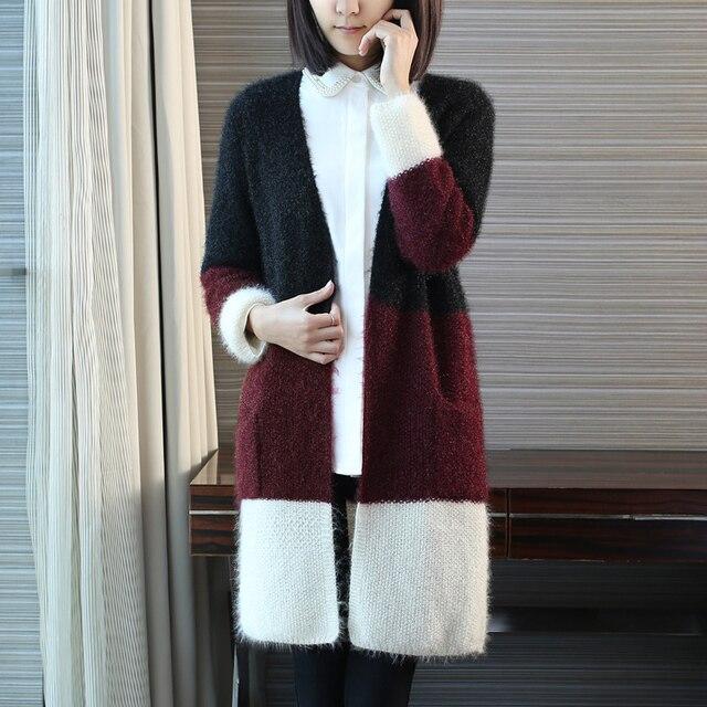 Koreanischen Stil V ausschnitt Mohair Häkeln Strickjacke Für Frauen ...