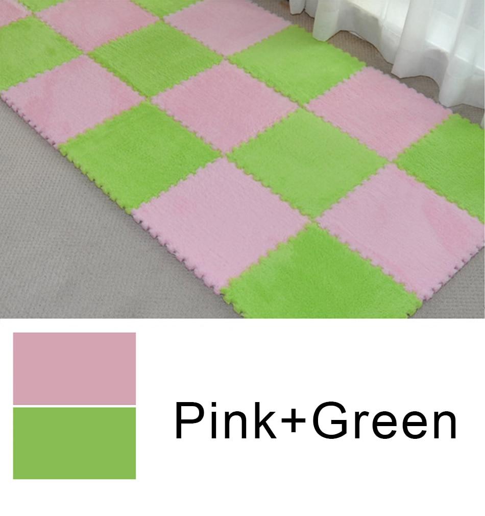 10 Pcs/lot Plush Puzzles Baby Playmats Puzzle Mat Infant Carpet Eva Foam Kids Rug Baby Playing Mat Rug Puzzle Children's Mat