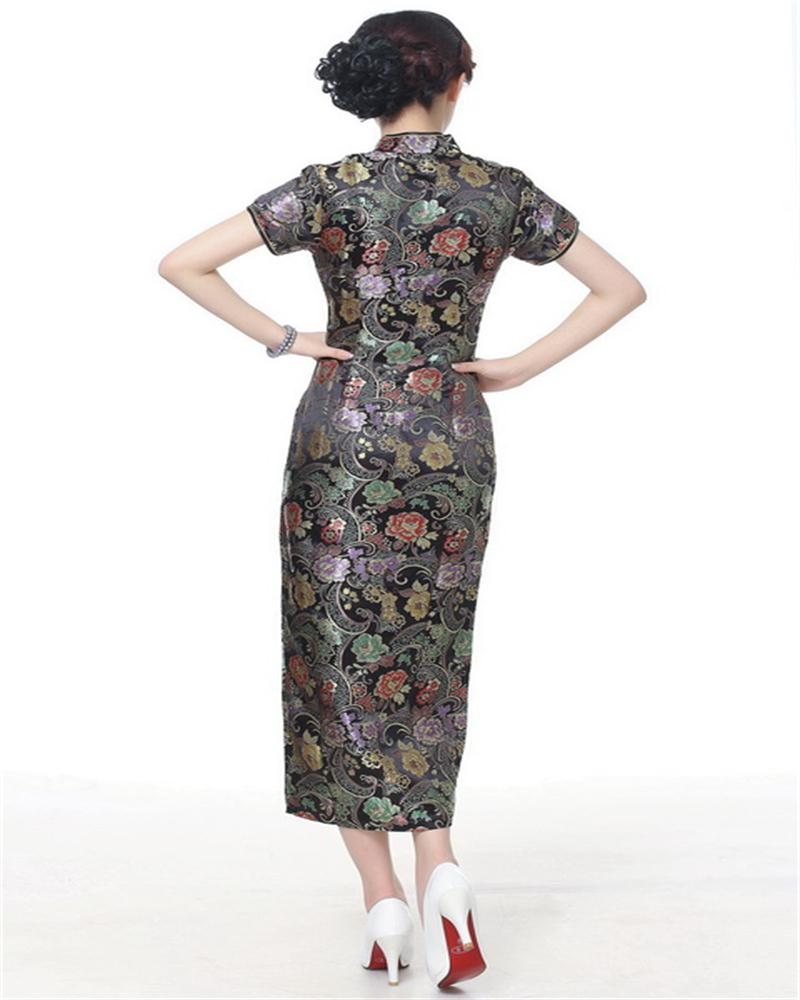 new style a6e62 401ec Damenmode New Sexy Traditional Gorgeous Chinese Satin Long ...