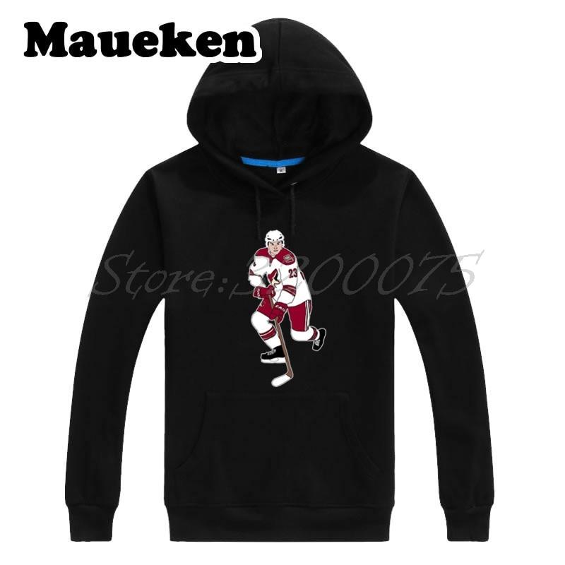 Men Hoodies Arizona 23 Oliver Ekman-Larsson Sweatshirts coyotes Hooded Thick Autumn Winter W17112527