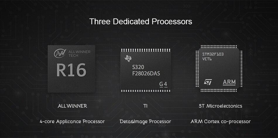 4-jedrni glavni procesor, procesor za podatke in slike in ARM Cortex co-processor