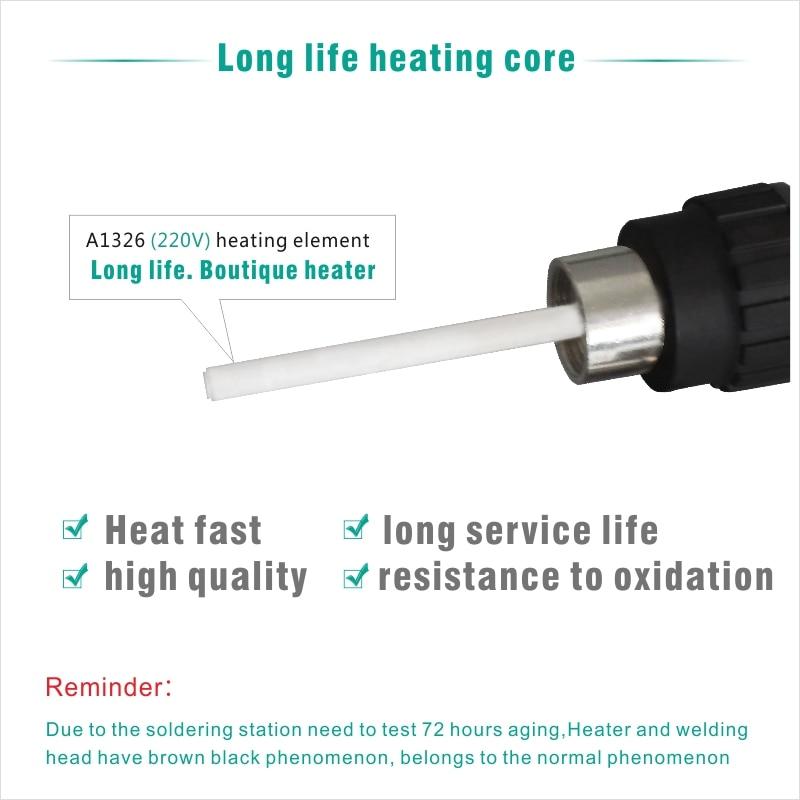 Electric Soldering iron 60W CXG LCD Adjustable Temperature EU plug Welding Solder Station Heat Pencil 2pcs Tips  (12)