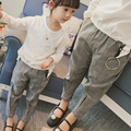 Spring New 2017 Girls Plaid Pants Children Full Length Trousers Toddler Casual Pants Fashion Baby Kids Pants,2-6Y