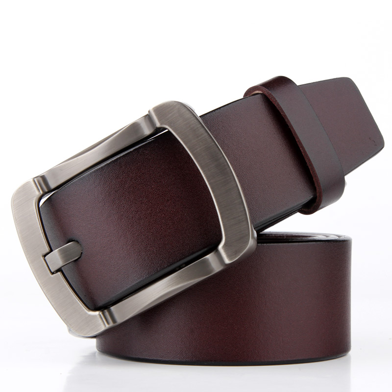 Badinka 100% Genuine Cow Leather Belts for Men Jeans High Quality Mens Black Brown Cowhide Cowskin Belt Strap Ceinture Homme
