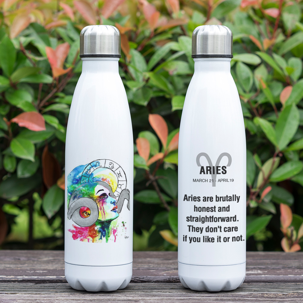 US $15 99 10% OFF|12 Constellation Zodiac Sign Aries Taurus Gemini Cancer  Leo Virgo Libra Print Bottle Vacuum Water Bottle Zodiac Graduation Gift-in