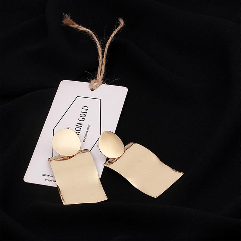 New Unisex Fashion earring Wave Alloy Earrings High Metal Heart earrings Men Solid Color XL32