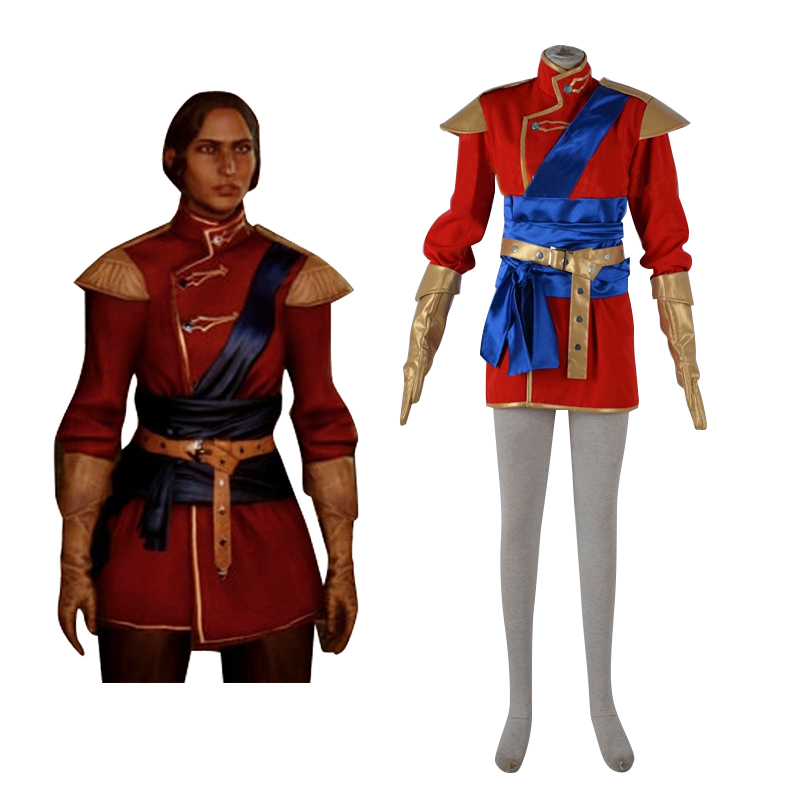 Dragon Age Inquisition Halamshiral Ball Red Uniform Cosplay Costume Men s Halloween Carnival Movie Party Costume