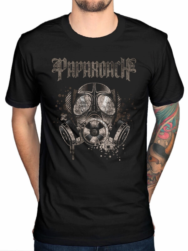 Tops & Tees Brave Papa Roach Gas Mask T-shirt Rock Band F.e.a.r Jacoby Shaddix Infest Great Varieties