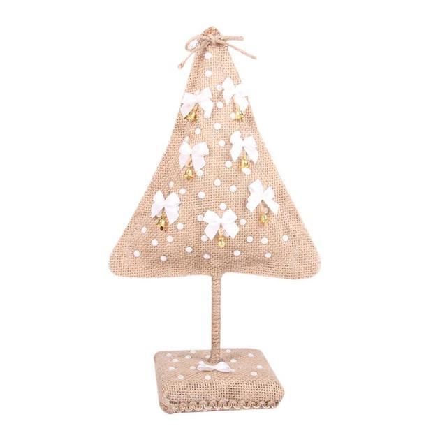 Navidad ornamento rústico Navidad decoración Telas Adornos arpillera ...