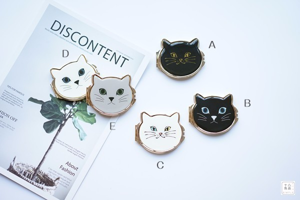 Lovely Cat Makeup Compact Mirror Pocket Cosmetic Mirror Hand Mirror Dropshipping Wholesale 5