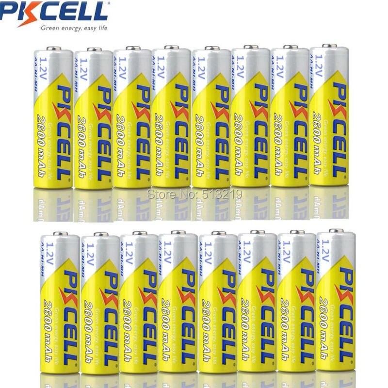 Recarregável para Lanterna Pkcell Bateria 2300-2600mah Baterias Nimh Brinquedos Remoto 16pcs aa 1.2v