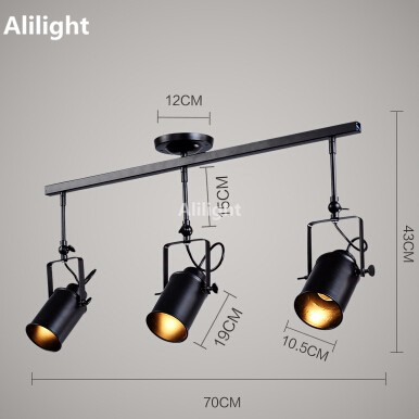 Retro loft vintage led track light industrial track lamp bar retro loft vintage led track light industrial track lamp bar clothing personality rail light three heads indoor lighting fixture in track lighting from mozeypictures Image collections