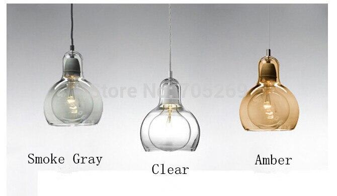 ФОТО Brief Modern Transparent Glass Bulb Pendant Light Personalized Single-head Bar Counter Lamps Diamerter 18cm High 23cm