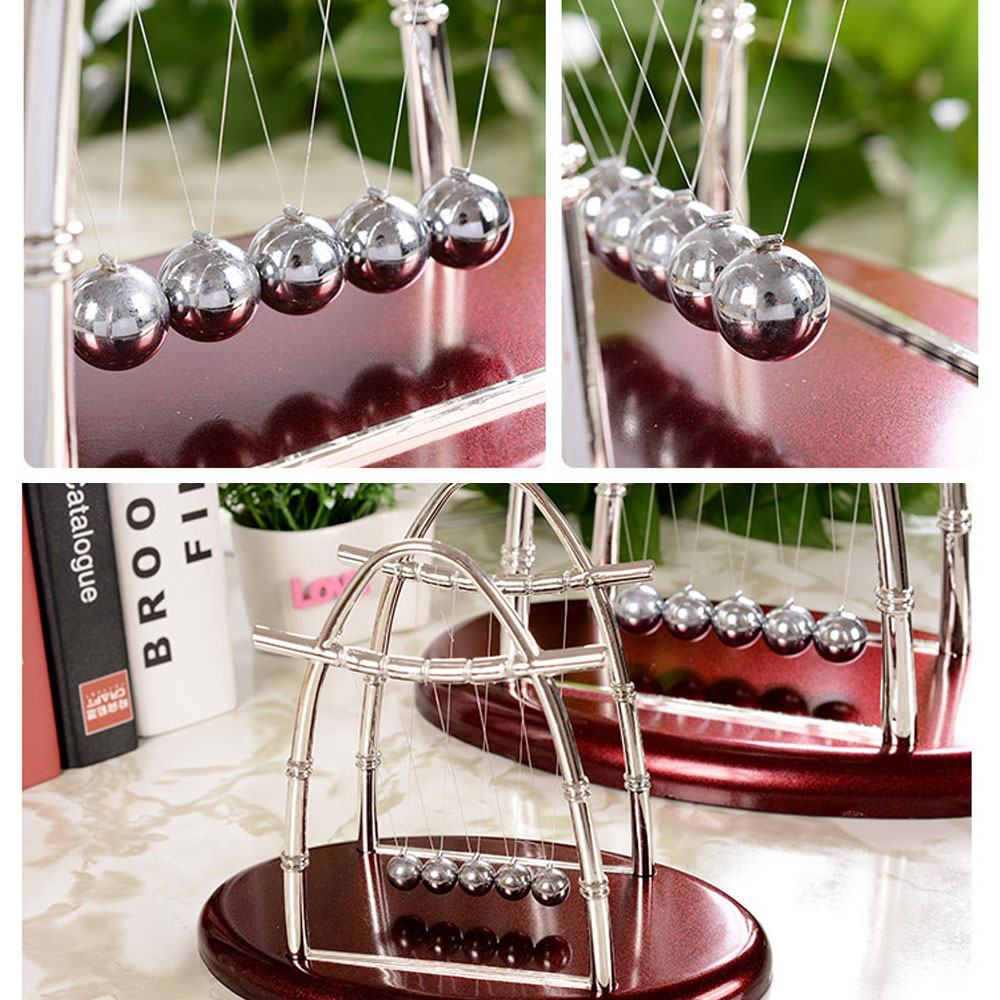 Home Office Decor Newton Cradle Balance Ball Physics Science Pendulum Oval  Relaxing Educational Toys Creative Gift For Friend In Figurines U0026  Miniatures From ...